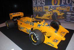 Ayrton Senna Lotus no stand do Senna Tribute