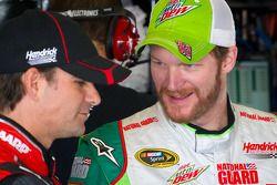 Jeff Gordon, Hendrick Motorsports Chevrolet et Dale Earnhardt Jr., Hendrick Motorsports Chevrolet