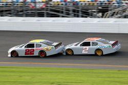 A.J. Allmendinger, Penske Racing Dodge and Brad Keselowski, Penske Racing Dodge