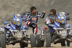 First place in Quad category #250 Yamaha: Alejandro Patronelli and second place #252 Yamaha: Marcos Patronelli