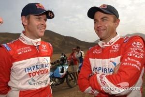 Third place in Car category Giniel de Villiers and Dirk Von Zitzewitz