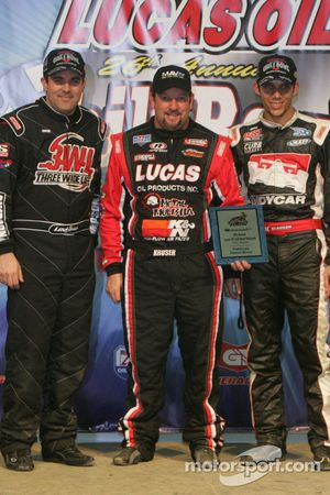 Levi Jones, Cory Kruseman and Bryan Clauson