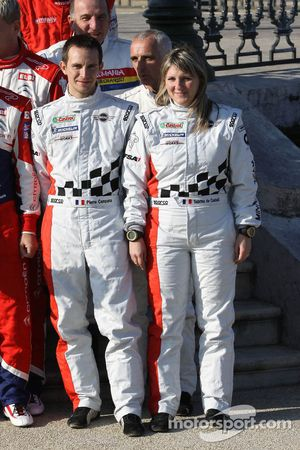 Groepsfoto rijders: Pierre Campana en Sabrina de Castelli, MINI WRC TEAM