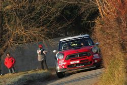 Pierre Campana en Sabrina de Castelli, Mini John Cooper Works WRC, MINI WRC TEAM
