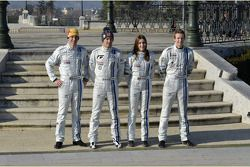 Julien Ingrassia, Sébastien Ogier, Lara Vanneste et Kevin Abbring, Volkswagen Motorsport