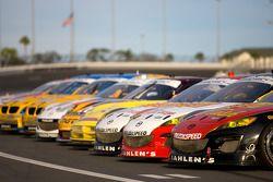 Séance photo pour les voitures GT