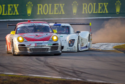 #45 Flying Lizard Motorsports with Wright Motorsports Porsche GT3: Jorg Bergmeister, Patrick Long, Seth Neiman, Mike Rockenfeller and #8 Starworks Motorsport Ford Riley: Ryan Dalziel, Lucas Luhr, Allan McNish, Alex Popow, Enzo Potolicchio