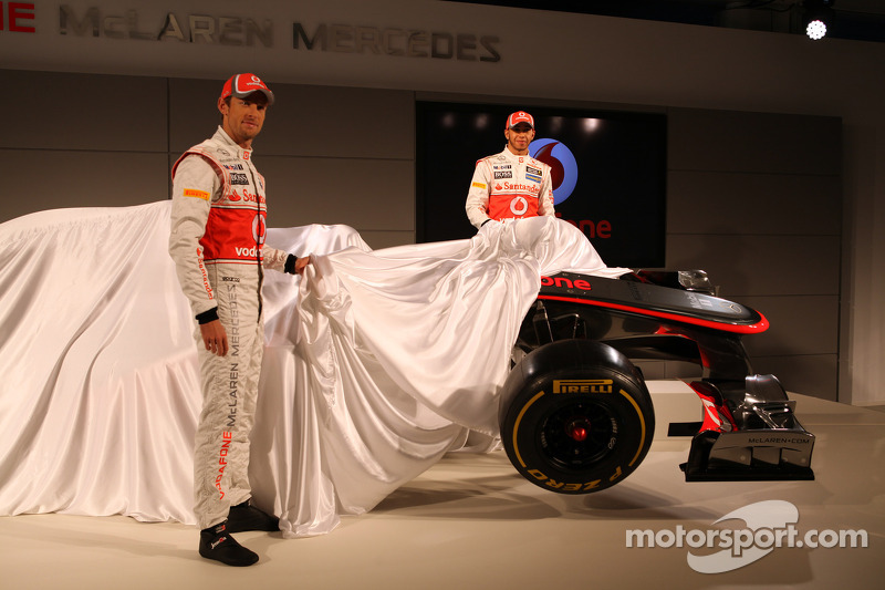 Jenson Button, McLaren Mercedes and Lewis Hamilton, McLaren Mercedes