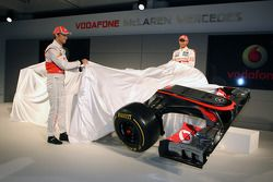Jenson Button, McLaren-Mercedes; Lewis Hamilton, McLaren-Mercedes