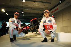 Lewis Hamilton, McLaren-Mercedes; Jenson Button, McLaren-Mercedes