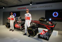 Lewis Hamilton, McLaren Mercedes y Jenson Button, McLaren Mercedes
