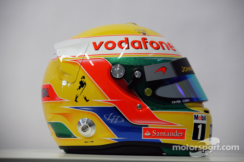Lewis Hamilton, McLaren Mercedes, helmmet