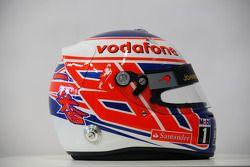 Jenson Button, McLaren Mercedes, helmet