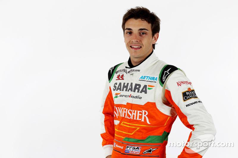 Após período na GP2, em 2012, Bianchi se torna piloto de testes da Force India.