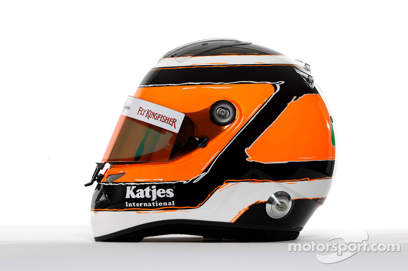The helmet of Nico Hulkenberg