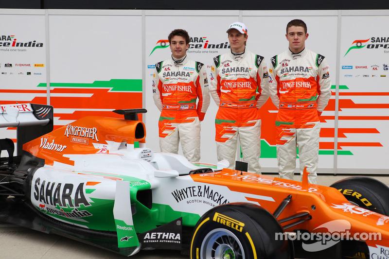 Nico Hulkenberg, Jules Bianchi y Paul di Resta
