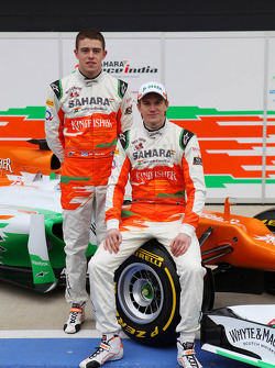 Пол ди Реста и Нико Хюлькенберг. Презентация Sahara Force India VJM05, Презентация.
