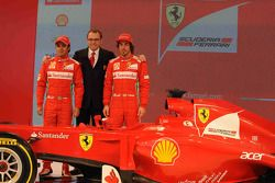 Fernando Alonso, Felipe Massa ve Stefano Domenicali