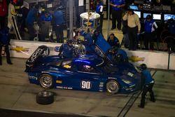 Pit stop for #90 Spirit of Daytona Corvette DP: Antonio Garcia, Oliver Gavin, Jan Magnussen, Richard