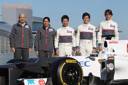 Peter Sauber, presidente Sauber F1 Team, Monisha Kaltenborn directora Sauber F1 Team, Kamui Kobayash