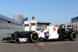 Kamui Kobayashi, Sauber F1 Team y Sergio Pérez, Sauber F1 Team