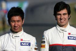 Kamui Kobayashi, Sauber F1 Team; Sergio Perez, Sauber F1 Team