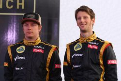 Kimi Raikkonen, Lotus Renault F1 Team and Romain Grosjean, Lotus Renault F1 Team