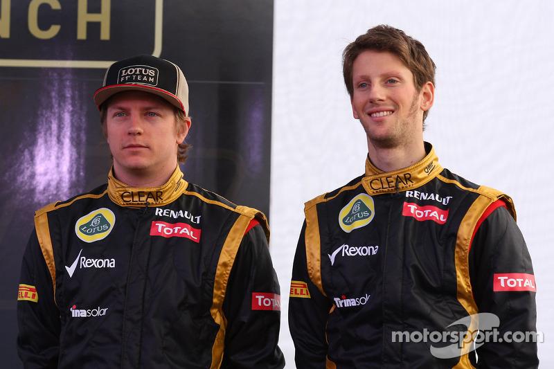 Кімі Райкконен, Lotus Renault F1 Team та Ромен Грожан, Lotus Renault F1 Team