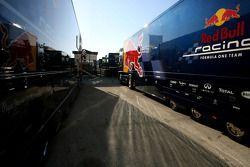 Lastwagen von Red Bull Racing
