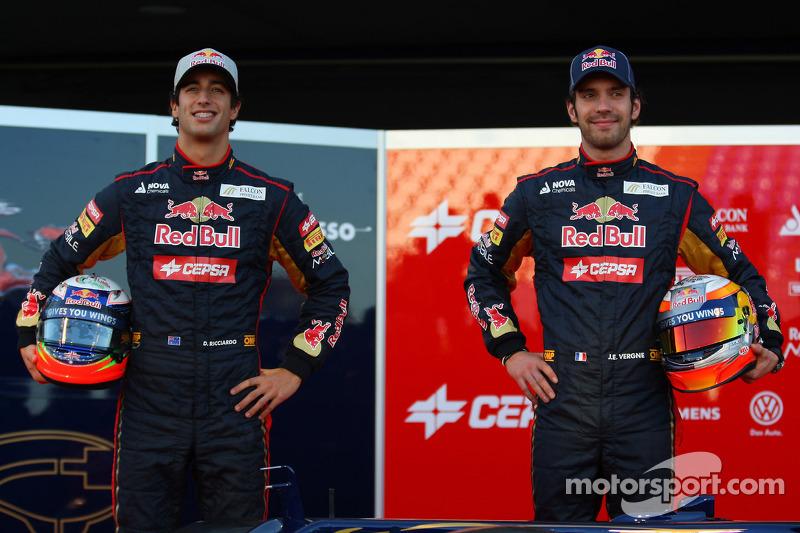 2012 - Toro Rosso, Daniel Ricciardo e Jean-Eric Vergne