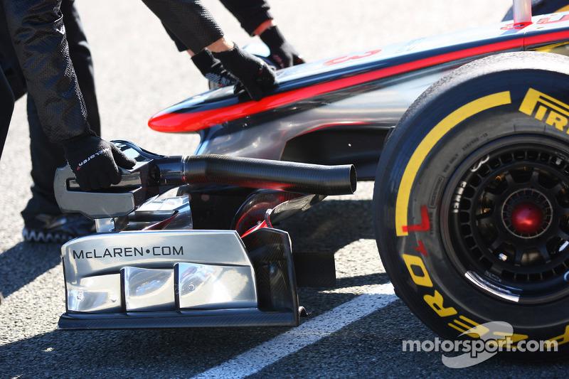 Jenson Button, McLaren Mercedes front wing
