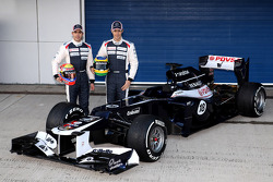 Bruno Senna, Williams F1 Team, y Pastor Maldonado, Williams F1 Team