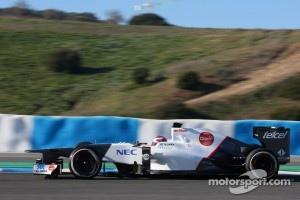 Sauber testing at Jerez.