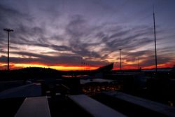 Zonsondergang over Jerez