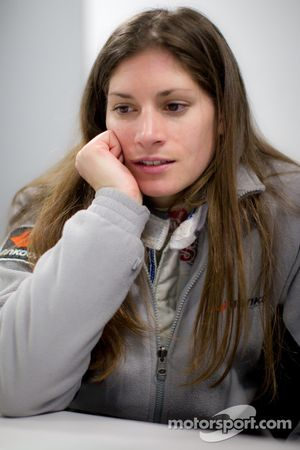 Cyndie Allemann tests the Hitotsuyama Racing Audi R8 LMS Super GT car, analyzes the in-board video