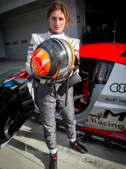 Cyndie Allemann tests the Hitotsuyama Racing Audi R8 LMS Super GT car