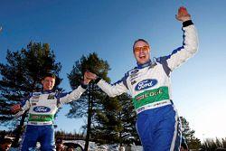 Winnaars Jari-Matti Latvala en Miikka Anttila, Ford World Rally Team