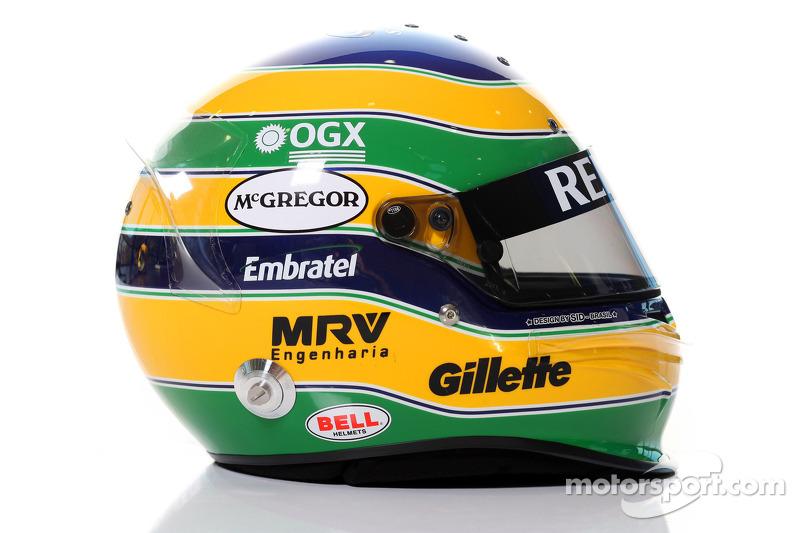 Casco de Bruno Senna, Williams F1 Team
