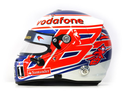 Casco de Jenson Button, McLaren Mercedes