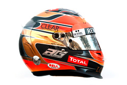 Romain Grosjean, Lotus Renault F1 Team, kask