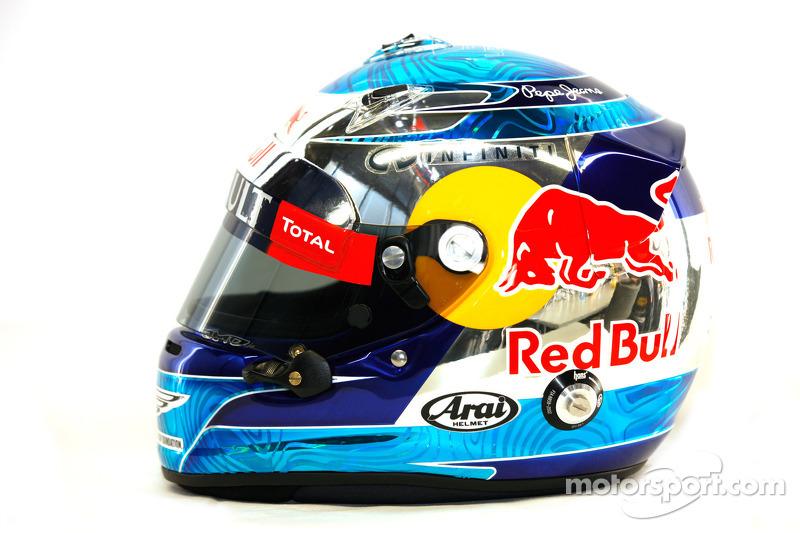 Sebastian Vettel, Red Bull Racing, kask