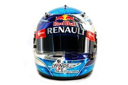 Casque de Sebastian Vettel, Red Bull Racing