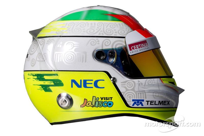 Casco de Sergio Pérez, Sauber F1 Team