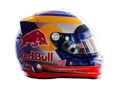 Jean-Eric Vergne, Scuderia Toro Rosso  helmet