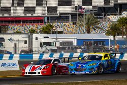 #5 Action Express Racing Corvette DP: David Donohue, Christian Fittipaldi, Darren Law, #41 Dempsey Racing Mazda RX-8: Ian James, Don Kitch Jr., Scott Maxwell, Dan Rogers