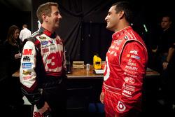 Greg Biffle, Roush Fenway Racing Ford and Juan Pablo Montoya, Earnhardt Ganassi Racing Chevrolet