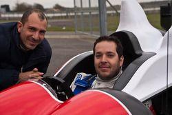 Рикардо Гонсалес и Элтон Джулиан. Обкатка Zytek Z11SN команды Greaves Motorsport, тестовый СУ.