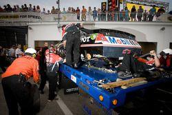 Gecrashte wagen Tony Stewart, Stewart-Haas Racing Chevrolet