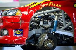 Gecrashte wagen A.J. Allmendinger, Penske Racing Dodge
