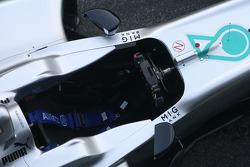 Mercedes F1 W03: Cockpit